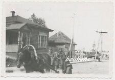 Foto Russland Soldaten mit Pferdegespann 2.WK (e723)