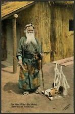 Japan British Exhibition Postcard 1910 - The Ainu Bear Killler With Trophy