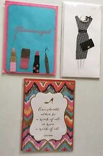 3 Papyrus Fashion Greeting Cards Embellished Glitter Glamour Cards