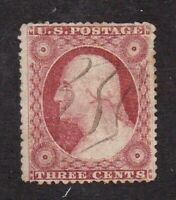 United States stamp #26a, used, type 4, LIght Cancel, SCV $150.00