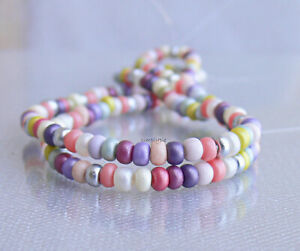 RARE Silky Supra Mix 2 Strands 6/0 Czech Glass Seed Beads