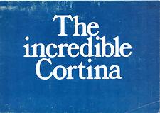 Ford Cortina Mk2 1968-69 UK Market Brochure Lotus 1600E GT Super De Luxe Estate