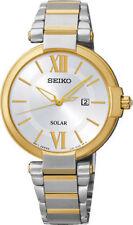 Seiko Solar Gold Plated Case Wristwatches
