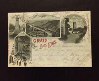 Postkarte Gruss aus Bad Ems 1899