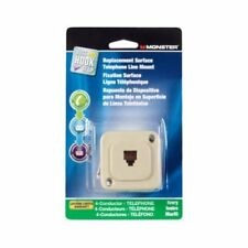 Monster 140547-00 Replacement Surface Mount Telephone Line Jack, Ivory