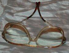 Eyeglass Frames Glass Vtg Mens Vintage Plastic Spring Loaded