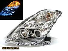 350Z Fairlady Z Z33 2003-2009 Angel-Eye LED*5 Projector HEADLIGHT Chrome NISSAN