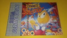 Sega Game Gear Dynamite Headdy manual instrucciones Pal España multilenguaje