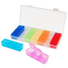7 Day Pill Box Holder Medicine Dispenser Organizer Tablets Case - By TRIXES