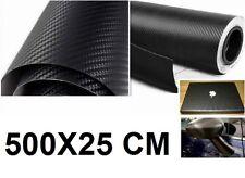 Adesivo carbonio Nero 500cm.Carbon look.Cover auto,moto,scooter. Pellicola 3D 5m