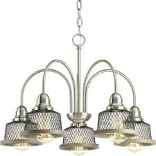 Progress Lighting Tilley Collection 5-Light Brushed Nickel Chandelier with Shade