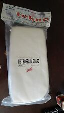 Martial Arts Fist Forearm Guard TEKNO White NEW in Package