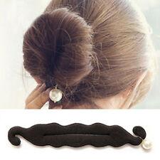 Women Bun Hair Styling Sponge Roll Foam Twister Donut With Pearl Bun Maker 1 pcs
