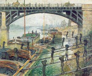 The Coalmen by Claude Monet A1 High Quality Art Print