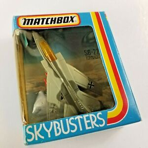 1981 Matchbox SKYBUSTER TORNADO SB-22 Boxed Grey Camouflage NOS