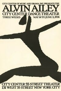 Alvin Ailey 1974 City Center Dance Theater Poster Print
