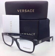 d4bcf7cc57 Versace Eyeglasses 3198 Gb1 55-17 140 Black Rectangular Frame W  Demo Lenses