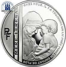 Frankreich 10 Euro Mutter Teresa Silber 2010 Silbermünze mit Polierter Platte