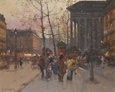 La Madeleine Eugene Galien Laloue france french street scene 24' toile