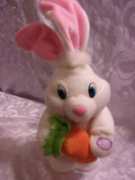 "Dan Dee Singing ""At the Hop"" Hopping Rabbit Bunny Plush Soft Toy Stuffed Animal"