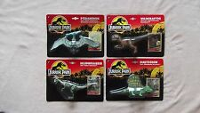 Set di 4 ORIGINALE 1993 JURASSIC PARK dinosauri non aperti ottime condizioni