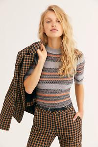 New Free People Winter Warmer Bodysuit, Grey, Small, RRP $78