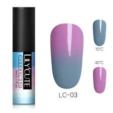 LILYCUTE 5ml Thermal Gel Polish Soak Off UV Color Changing Nail Art Gel Varnish
