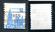 Used Canada 12 Cent Miscut Coil Stamp #729var (Lot #6769)