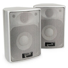 Mini Boxen Dynavox AS-301 High Class Satelliten Lautsprecher, Silber, Paarpreis