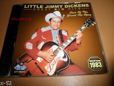 LITTLE JIMMY DICKENS hits CD COUNTRY BOY a-sleeping at FOOT of the BED alabam