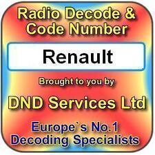 Radio Renault Code Decode Unlock Service par numéro de série