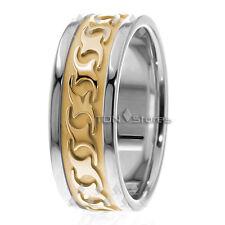 10K SOLID GOLD MENS CELTIC WAVE WEDDING BANDS WOMENS CELTIC WEDDING RING SET 8MM