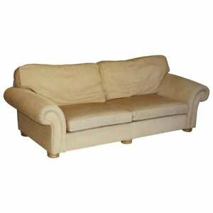 TETRAD HAND MADE IN ENGLAND SOMERVILLE FOUR SEATER LARGE FABRIC UPHOLSTERED SOFA