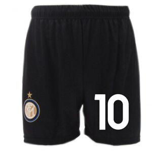 Pantaloncini Inter Lautaro 2021 Ufficiali Neri 10 Home stagione 2020 Martinez