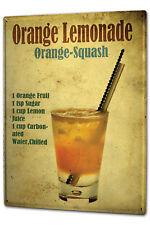 Tin Sign XXL Bar Party  Cocktail Orange
