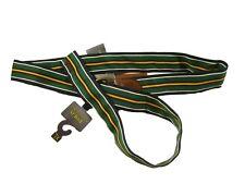 Polo Ralph Lauren Men's Green Multi Striped Grosgrain Belt