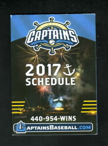 Lake County Captains--2017 Pocket Schedule--Lake Health--Indians Affiliate