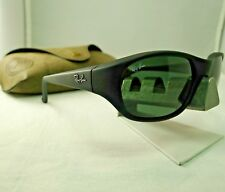ca25780e283 RAY-BAN RB2016 W2578 DADDY-O MATTE BLACK G-15 GREEN WRAP SUNGLASSES