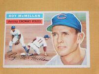 VINTAGE OLD 1950S BASEBALL 1956 TOPPS CARD ROY McMILLAN CINCINNATI REDLEGS