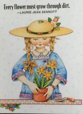 Mary Engelbreit Handmade Magnets-Every Flower Must Grow Through Dirt