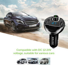 T20 Bluetooth Car Kit Handsfree Fm Transmitter Wireless A2Dp Mp3 Player Charger