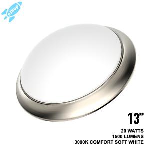 11'' 13'' Motion Sensor LED Flush Mount Ceiling Light Brushed Nickel 3000K Warm