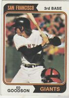 FREE SHIPPING-MINT-1974 TOPPS #494 ED GOODSON  GIANTS