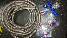Automatic Transmission Cooler Line Kit -6AN Steel Braided Hose Power Glide RED