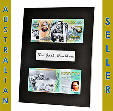 Sir Jack Brabham One Million Dollar Novelty Note Matted Memorabilia 8 x 10