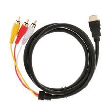 1080P GOLD PLATED HDMI MACHO A 3 RCA VIDEO AUDIO CONVERTIDOR CABLE ADAPTADOR