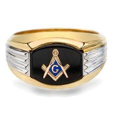 NEW Masonic Ring 10K Solid Gold Master Mason Freemason Masonry Black Onyx