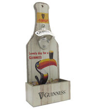 Guinness Wall Mounted Bottle Opener with Cap Catcher Vintage Toucan Design 5464