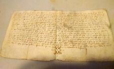 """Medieval Manuscript vellum parchment 1412 Vivar, town of """"el cid"""" Spain"""