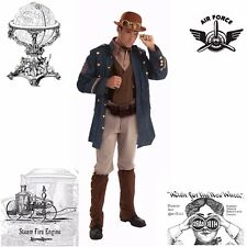 Steampunk General Aviator Military Army Naval Captain Halloween Costume Men S: M